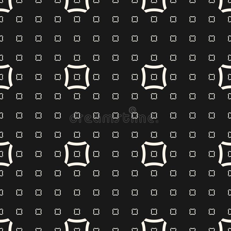 Free Vector Geometric Seamless Pattern With Linear Concave Squares. Stock Photo - 102711850