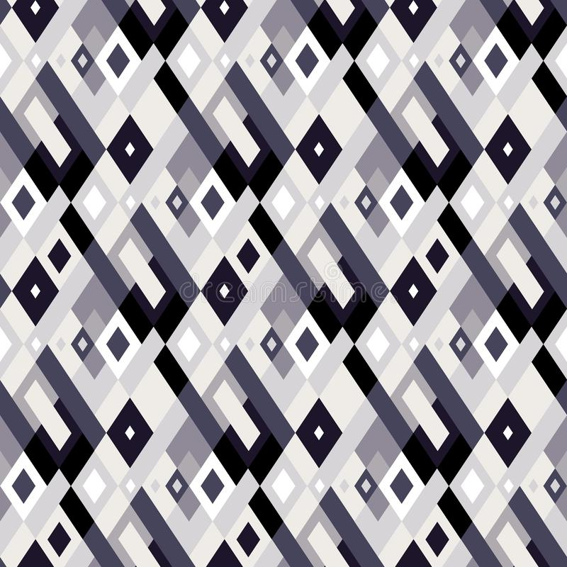 Vector geometric seamless plaid pattern with squares, checks royalty free illustration