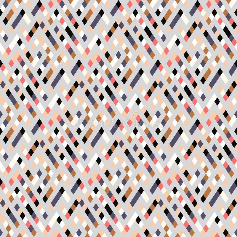 Vector geometric seamless plaid pattern with squares, checks vector illustration
