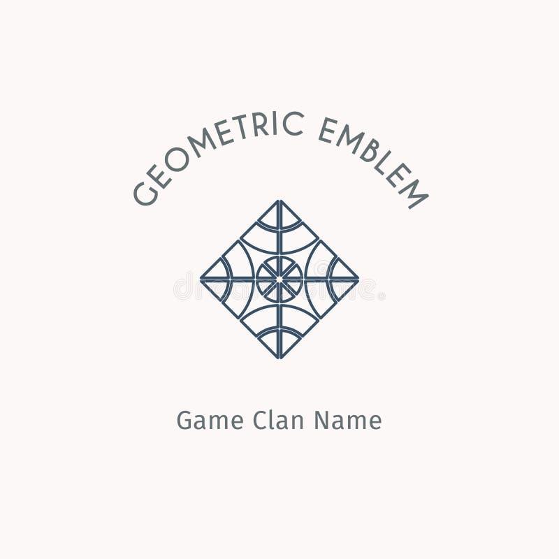 Vector geometric symbol stock illustration