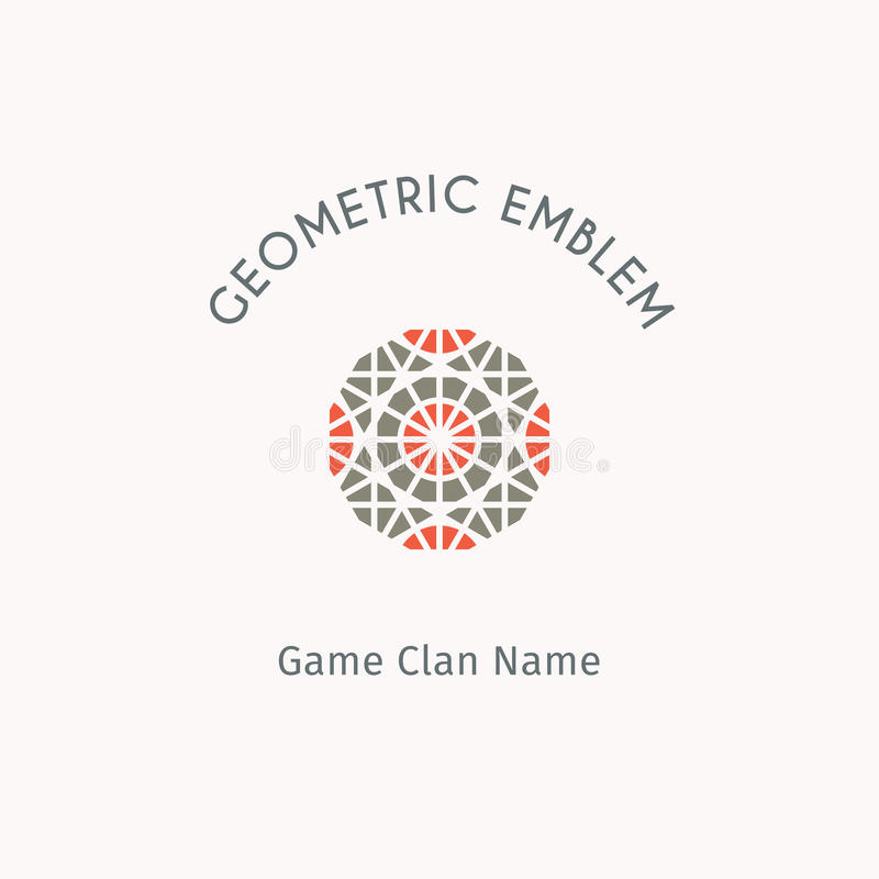 Vector geometric symbol. Geometric logo template. Vector modern symbol for alternative or extreme sport teams and crews vector illustration