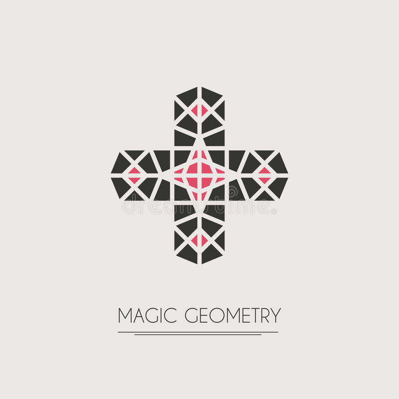 Vector geometric symbol. Geometric logo template. Vector modern symbol or emblem vector illustration