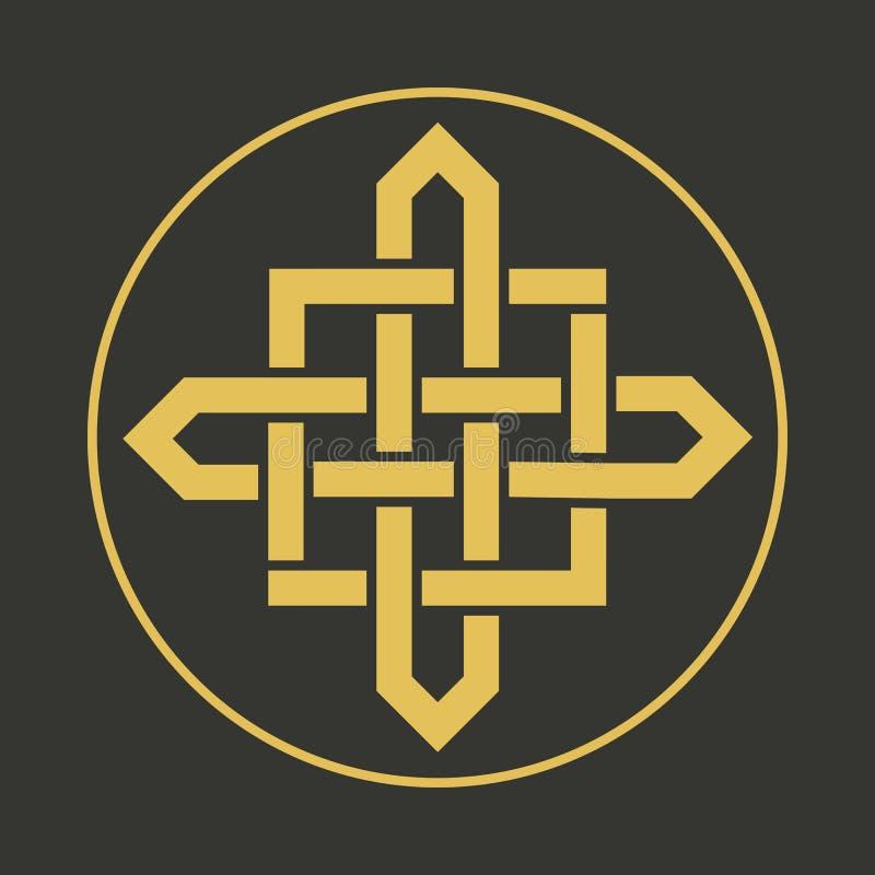 Vector geometric symbol. Traditional asian ornament. Vector circular arabic geometric symbol royalty free illustration
