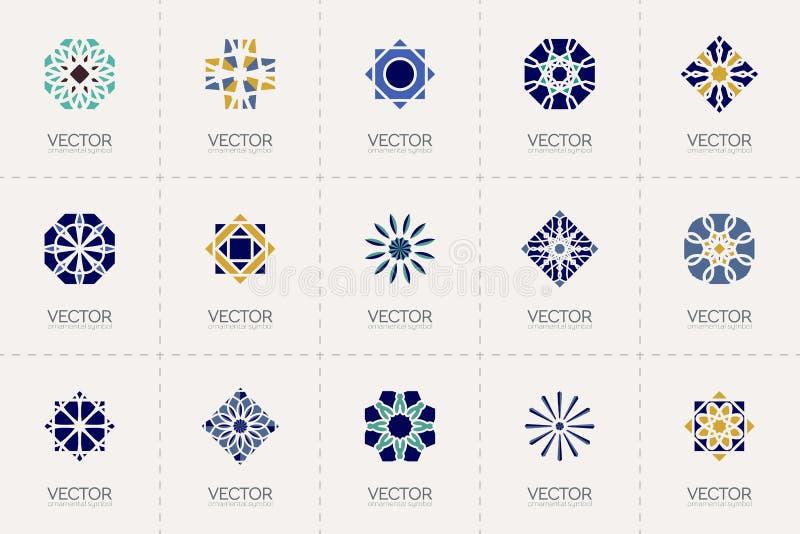 Vector geometric symbols stock illustration