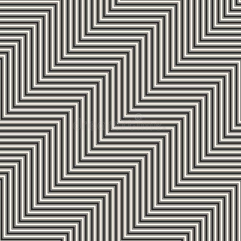Vector geometric zigzag lines seamless pattern. Stripes texture. vector illustration