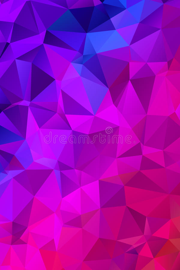 Vector Geometrical polygon abstract purple background vector illustration