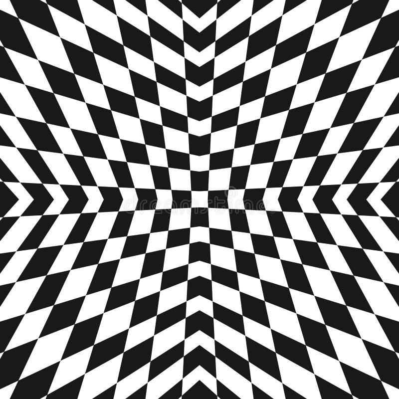 Vector geometrisch geruit patroon Op het ornament van de kunststijl royalty-vrije illustratie