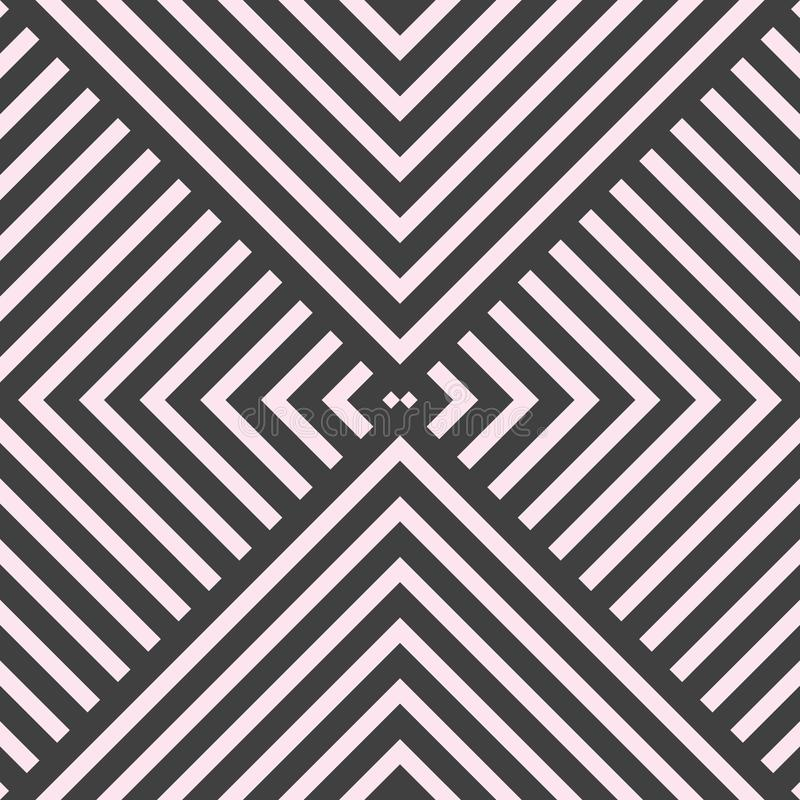 Vector geometrisch gewaagd lijn naadloos patroon voor behang en achtergrond stock illustratie