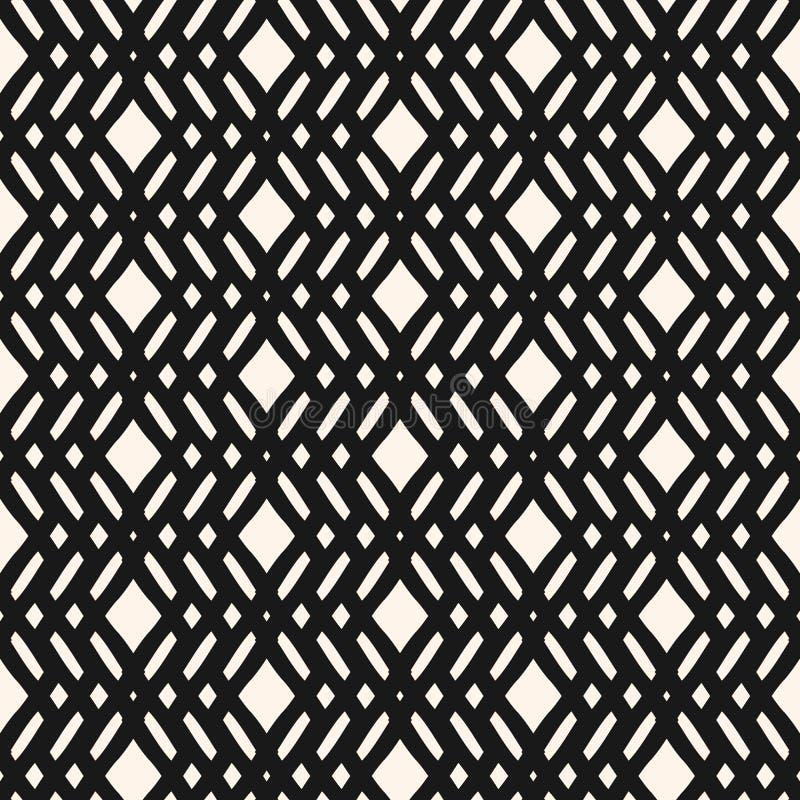 Vector geometrisch naadloos patroon met de kruising van lijnen, ruiten, netwerk, rooster royalty-vrije illustratie