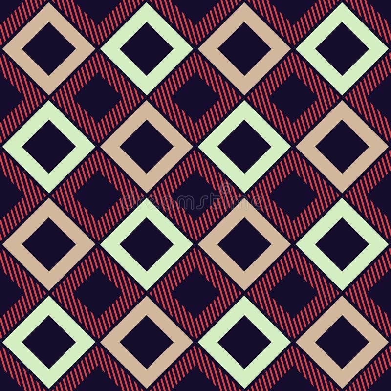 Vector geometrisch naadloos patternVector kleurrijk vlak geometrisch naadloos patroon royalty-vrije illustratie