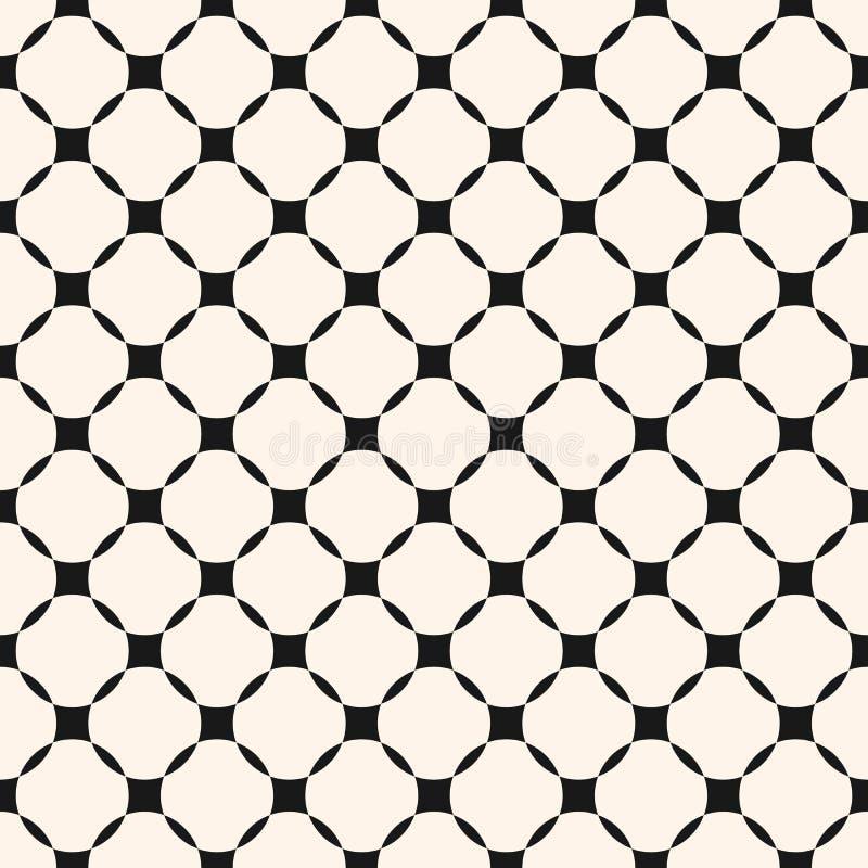 Vector geometrisch net naadloos patroon, diagonale vierkante opening stock illustratie