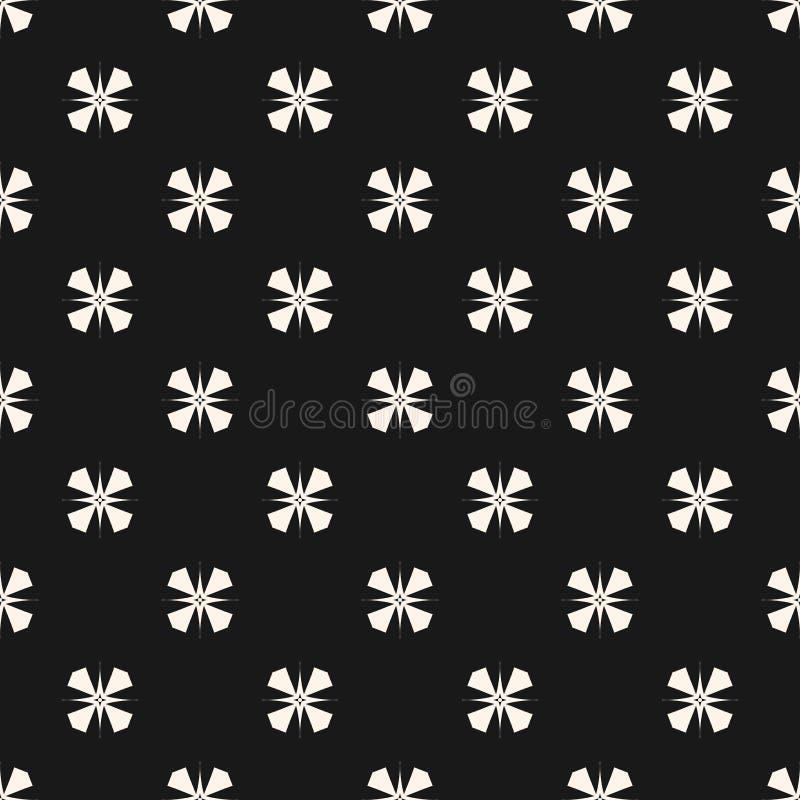 Vector Geometrisch Ornament Naadloos patroon met sterren, bloemen Oosterse stijl stock illustratie