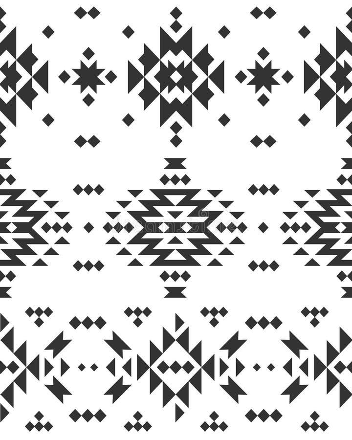 Vector Geometrische achtergrond, Stammen naadloos royalty-vrije illustratie