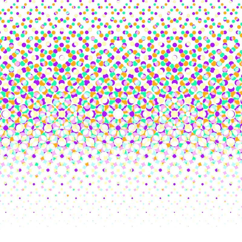 Vector geometrische halftone achtergrond stock illustratie