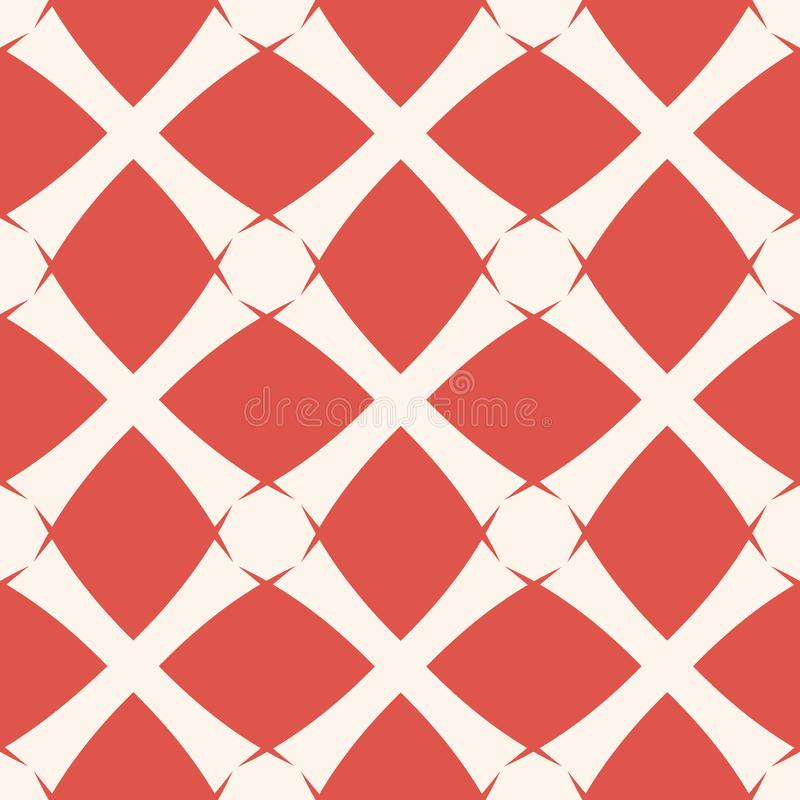 Vector geometrische netachtergrond Abstract rood en wit naadloos patroon vector illustratie