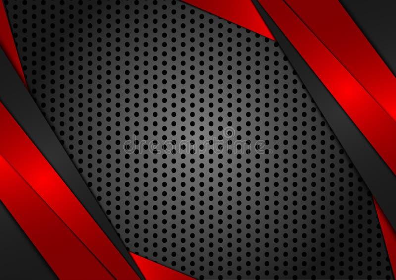 Vector geometrische rode en zwarte abstracte achtergrond Textuurontwerp voor uw zaken vector illustratie