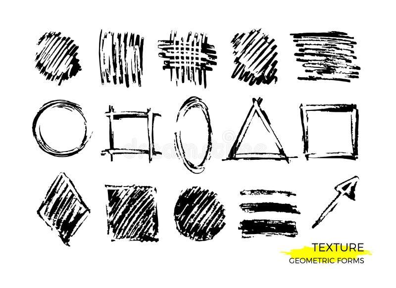 Vector geometrische textuurvormen reeks vector illustratie