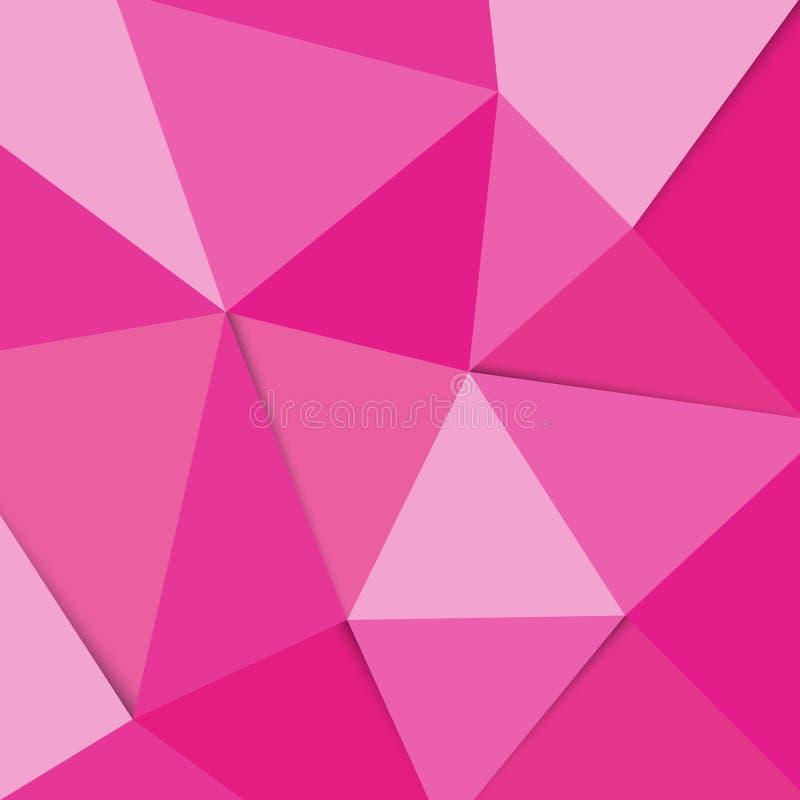 Vector Geometrische Veelhoek Abstracte Driehoek royalty-vrije illustratie