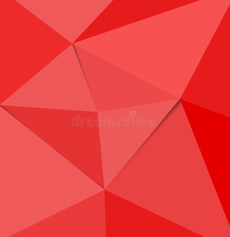 Vector Geometrische Veelhoek Abstracte Driehoek vector illustratie