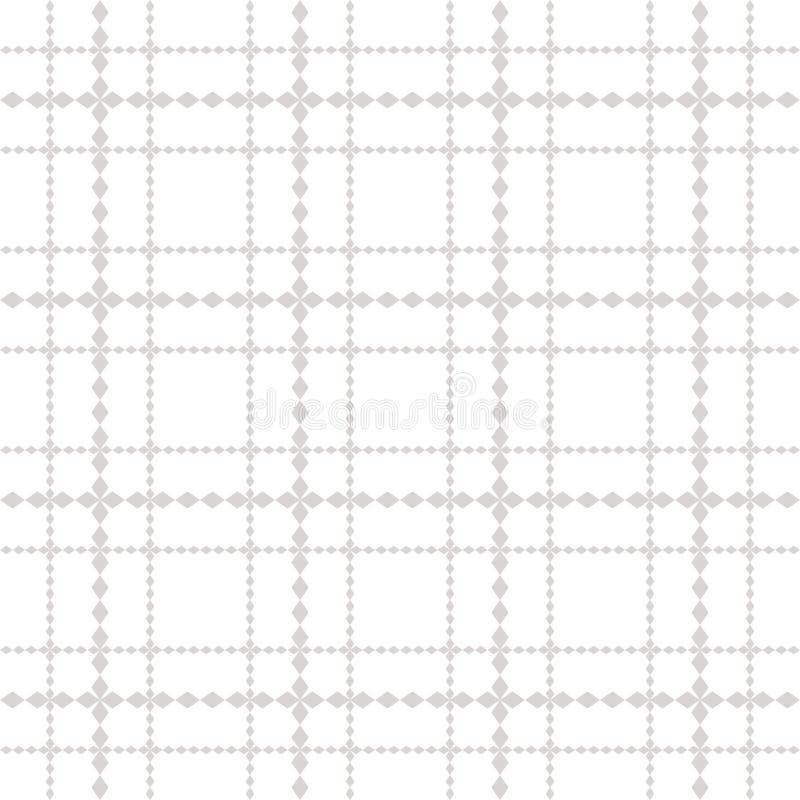 Vector geometrisches nahtloses Muster des quadratischen Gitters in den Pastellfarben vektor abbildung