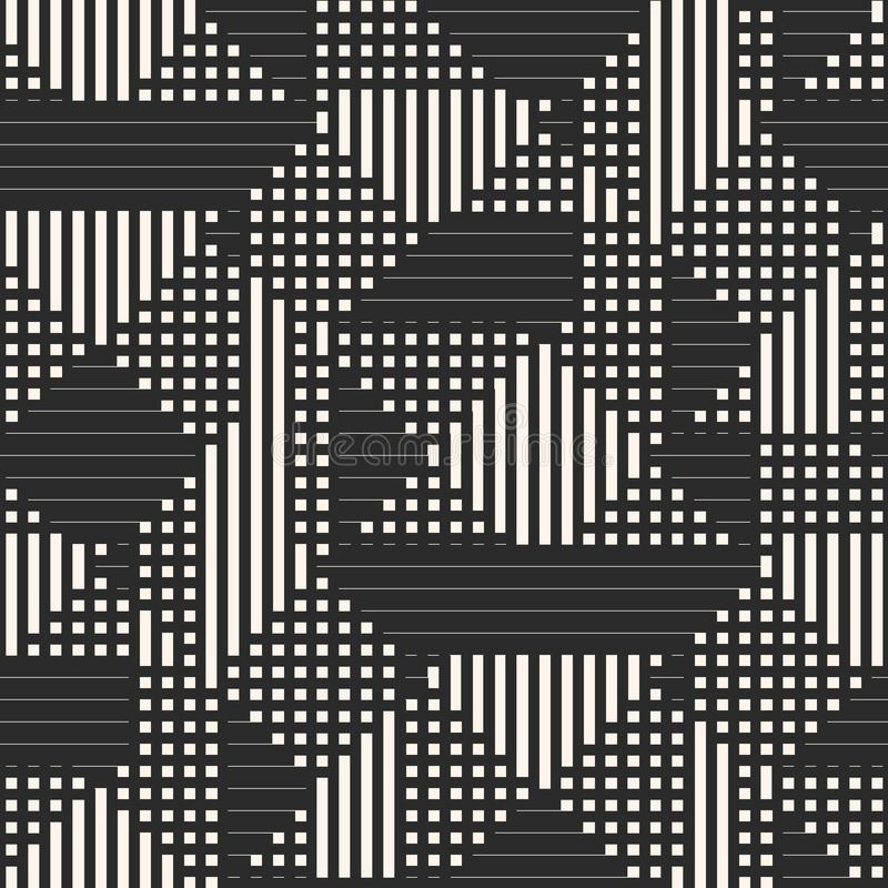 Vector geometrisches nahtloses Muster mit Streifen, Quadrate, Linien, Sportmuster vektor abbildung
