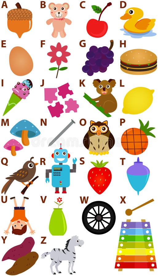 Vector Geplaatst Alfabet: A aan Z royalty-vrije illustratie
