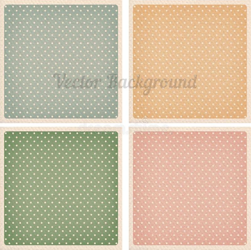 Vector Geplaatste Achtergronden vector illustratie
