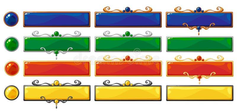 Vector geplaatste titelbanners stock illustratie