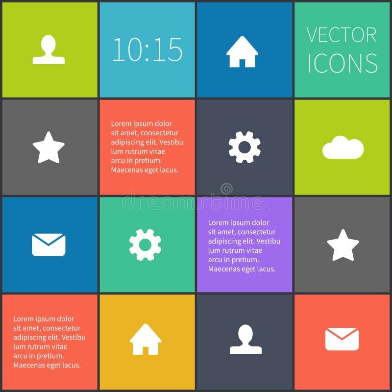 Vector geregeld kleurrijk ui stock illustratie