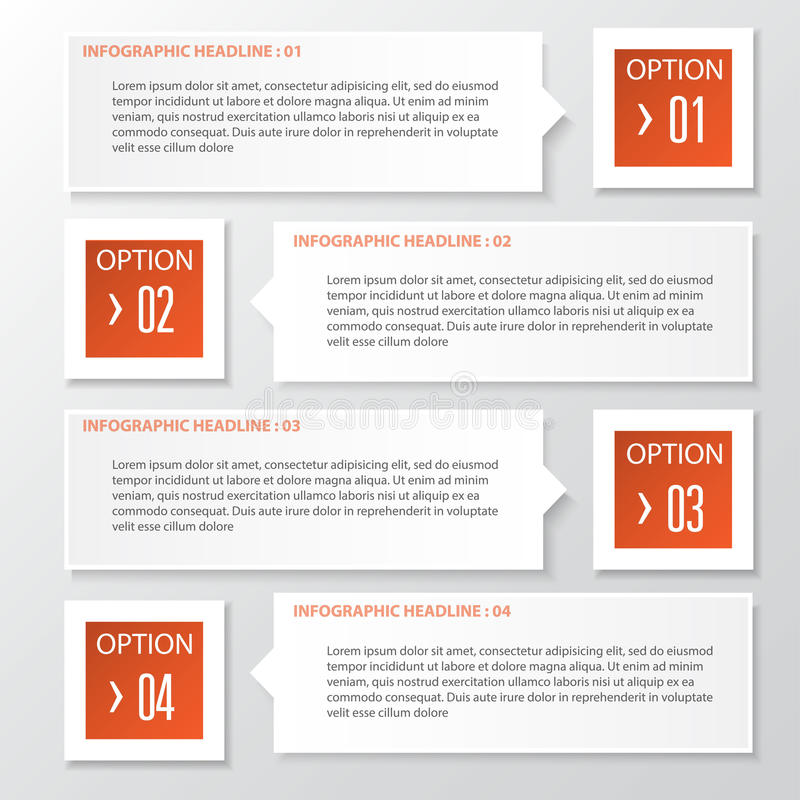 Vector Geschäftsschritt-Papierdiagramm und nummeriert Fahnendesign templ lizenzfreie abbildung
