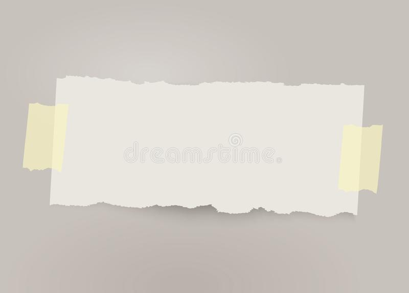 Vector gescheurde document banner met plakband - Het vector royalty-vrije illustratie