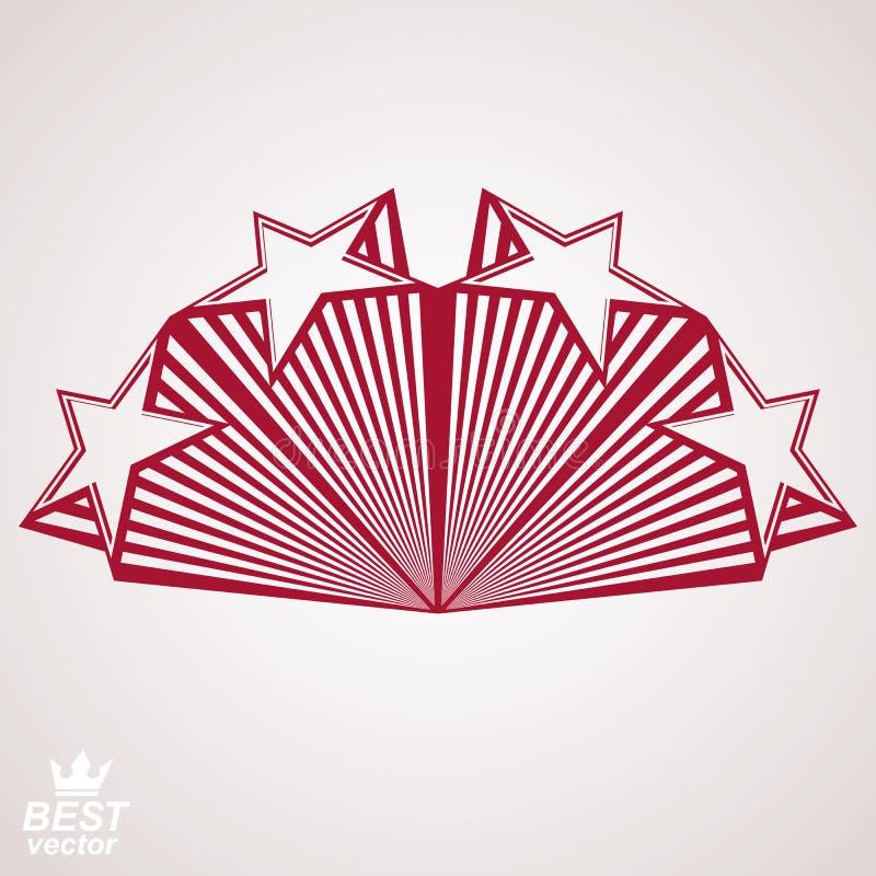 Vector gestileerd ontwerpelement, celebrative perspectiefpentagoon royalty-vrije illustratie