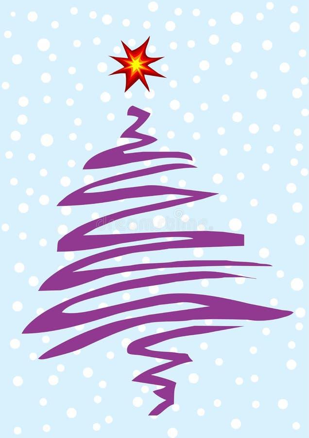 Vector gestileerde Kerstboom royalty-vrije illustratie