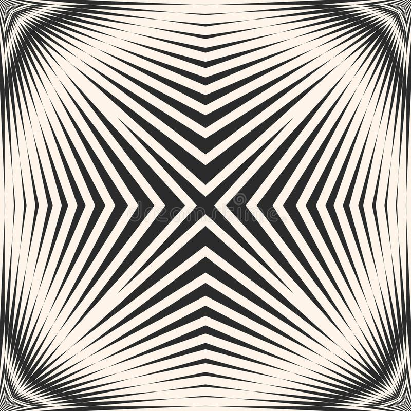 Vector gestreept naadloos patroon met diagonale dwarslijnen die, strepen snijden vector illustratie