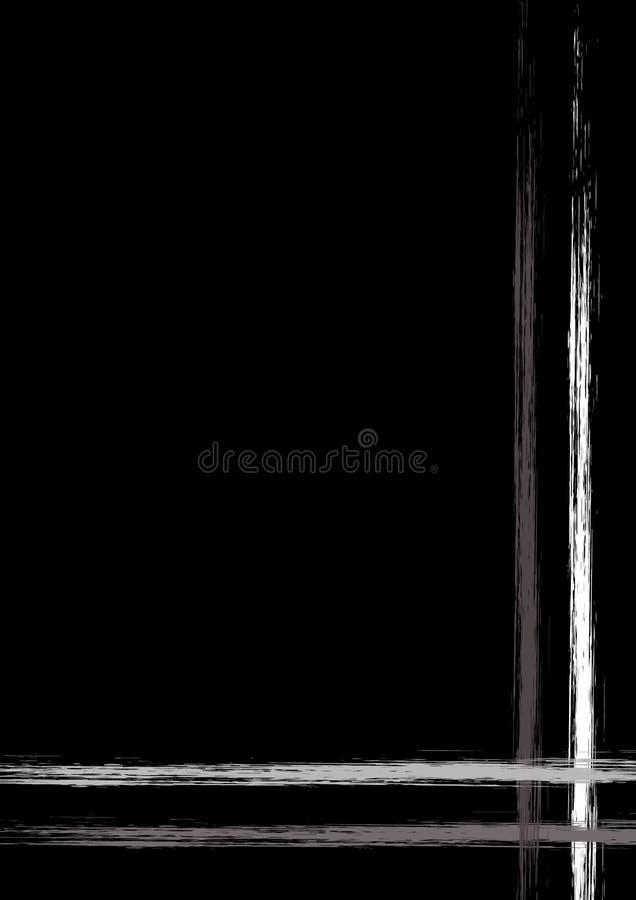 Vector getrokken achtergrond met kader, grens Grunge roze malplaatje met lijnen Oud stijl uitstekend ontwerp Grafische illustrati stock illustratie