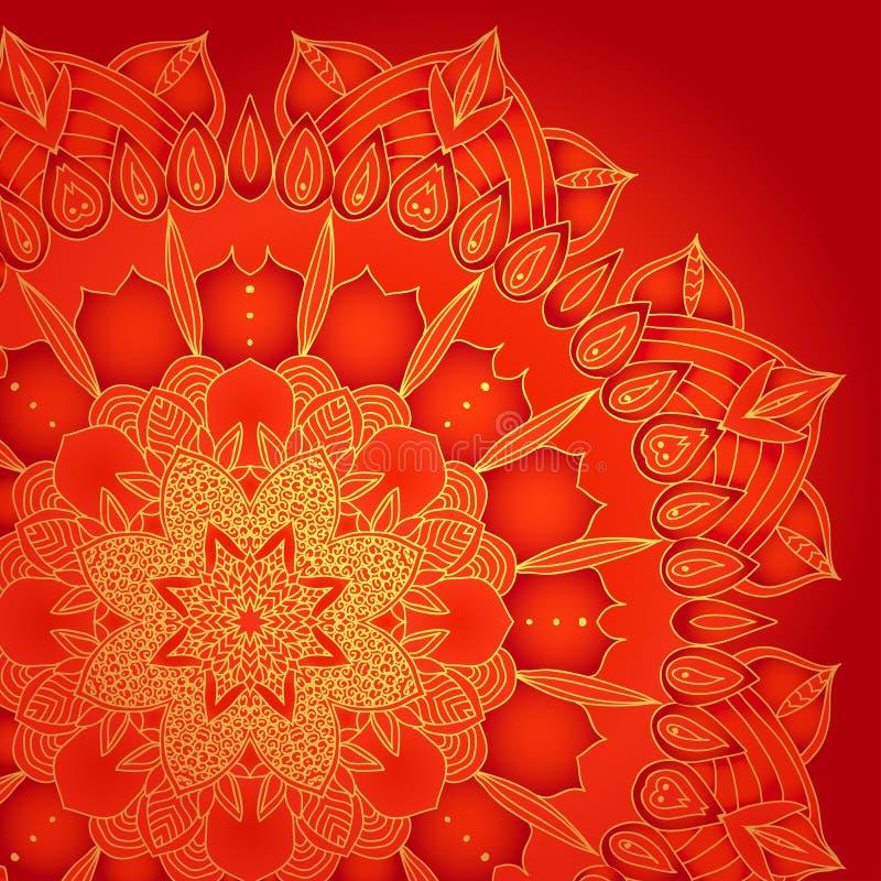 Vector gevoelig kant om patroon royalty-vrije illustratie