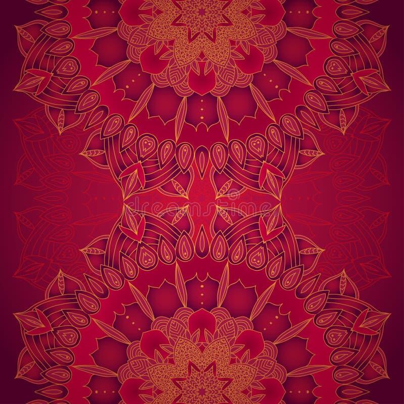 Vector gevoelig kant om patroon vector illustratie