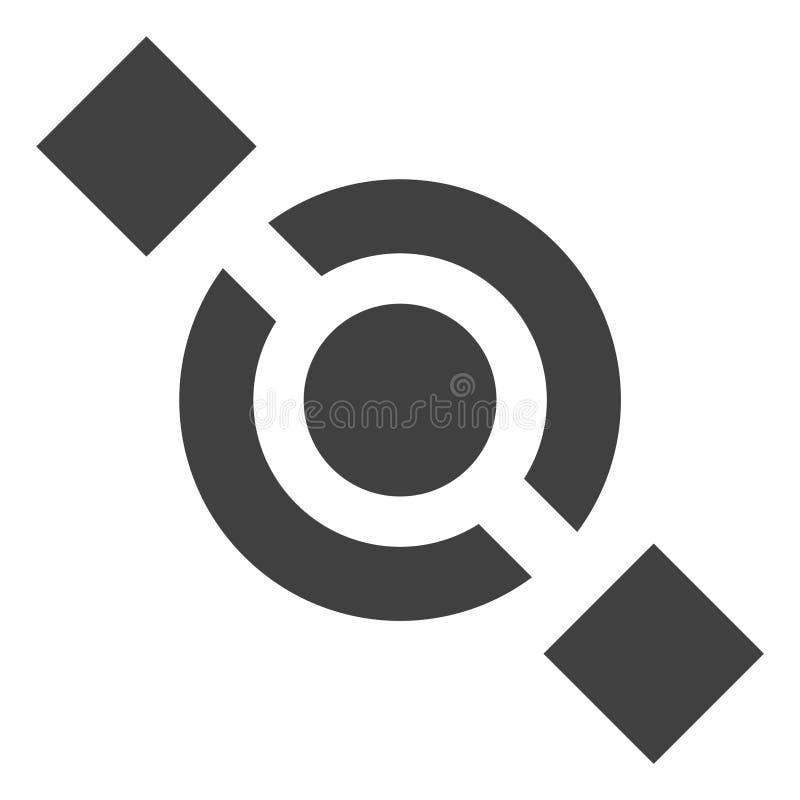 Vector Gezamenlijk Knooppictogram vector illustratie