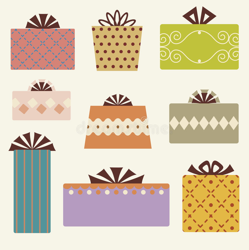 Free Vector Gift Box Set Stock Images - 9270784