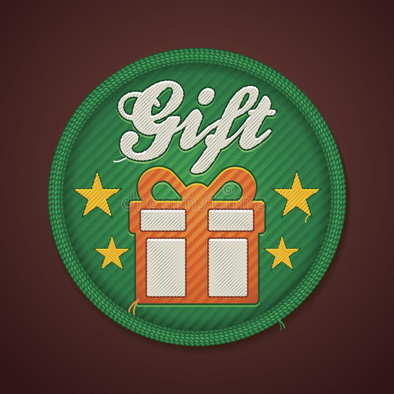 Download Vector gift fabric badge stock vector. Image of green - 26893831