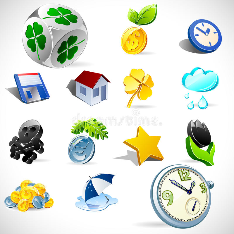 Download Vector gift icons. Set 2 stock vector. Image of happiness - 16607632