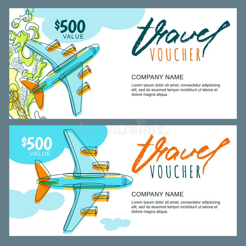 Vector gift travel voucher top view hand drawn flying airplane download vector gift travel voucher top view hand drawn flying airplane coupon certificate yadclub Choice Image