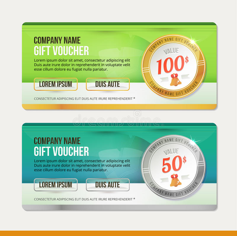 Vector Gift voucher template. Clean and modern royalty free illustration