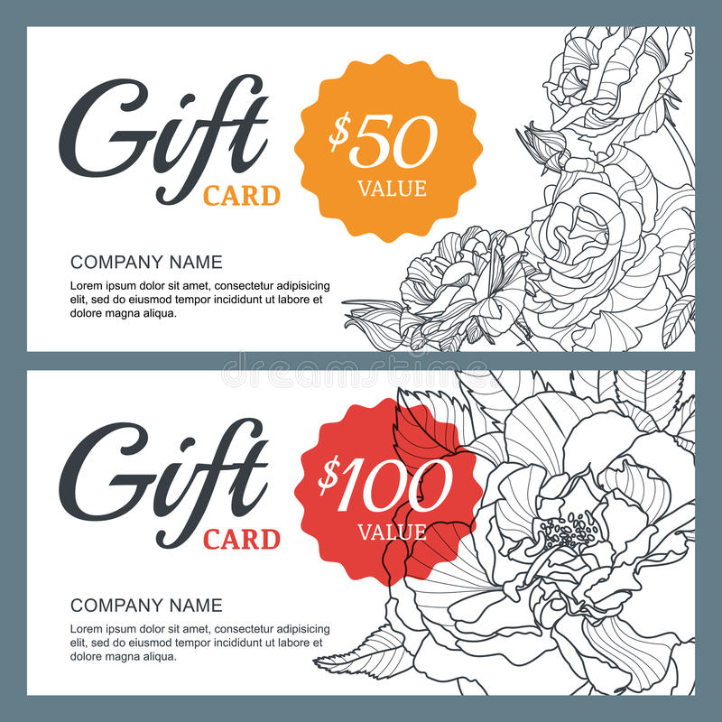 Vector gift voucher template with roses flowers business floral download vector gift voucher template with roses flowers business floral card template stock vector accmission Choice Image
