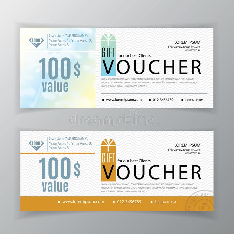 Vector gift voucher template. Universal flyer for business. Chamonile background for example background. Clean design for pharmacies, medicine, cosmetics vector illustration