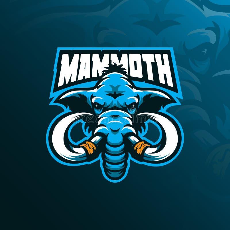 Vector gigantesco del diseño del logotipo de la mascota con el estilo moderno del concepto del ejemplo para la impresión de la in stock de ilustración