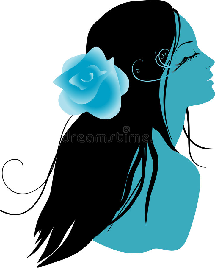 Vector girl royalty free illustration