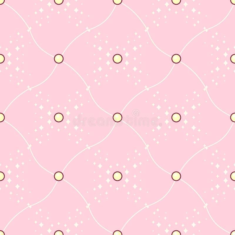 Vector girlish seamless pattern vector illustration