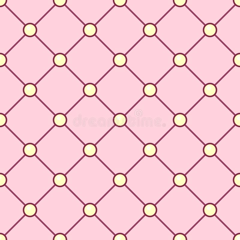 Vector girlish seamless pattern royalty free illustration