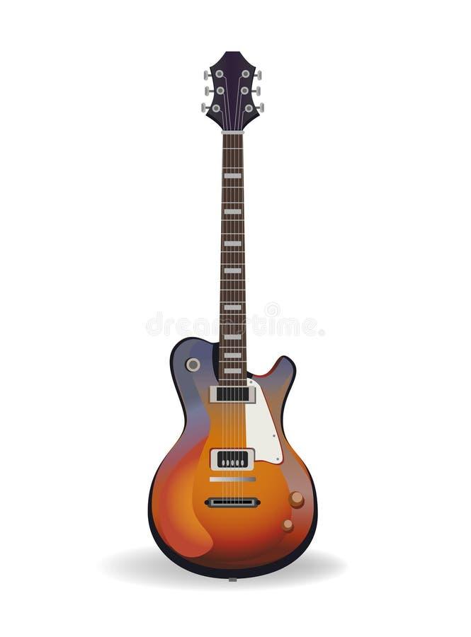 Vector gitaar royalty-vrije illustratie
